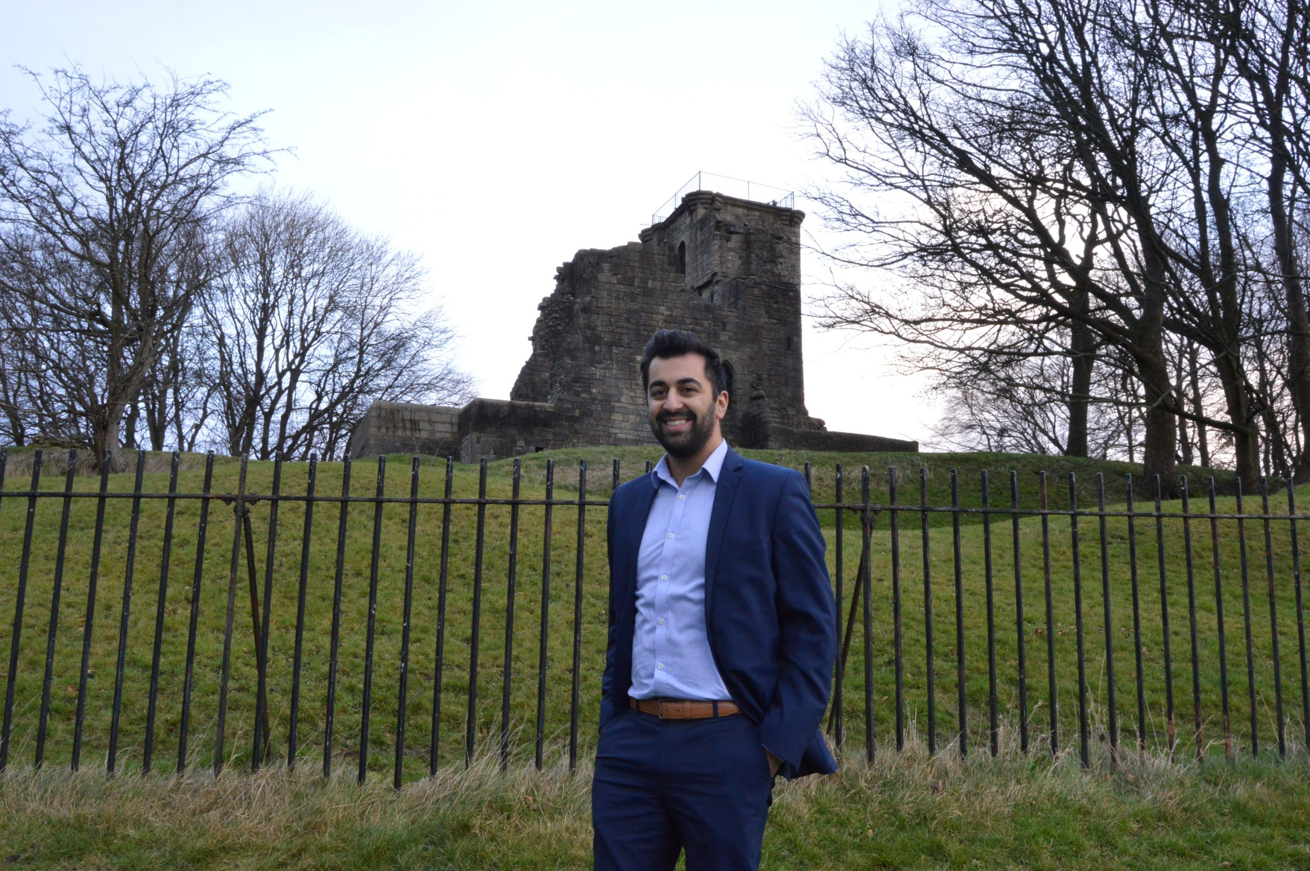 Humza Yousaf at Crookston Castle