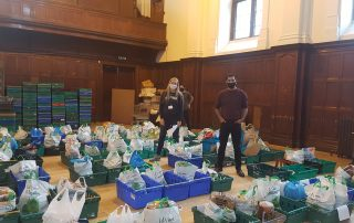 Humza Yousaf helping with food donations