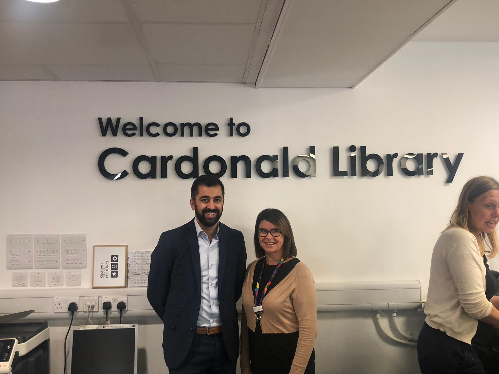 Humza Yousaf in the Cardonald Library